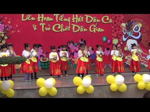Múa: DẮT TRÂU RA ĐỒNG - Lớp mẫu giáo nhỡ Mầm non Ban Mai - Hội chợ Xuân yêu thương