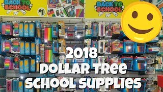 school supplies shopping at dollar tree