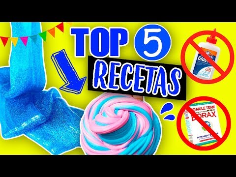 Top 5 Recetas Slime 2 Ingredientes Sin Pegamento No Borax
