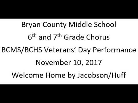 Bryan County Middle School 6th 7th Vet Day 2017 Welcome Home