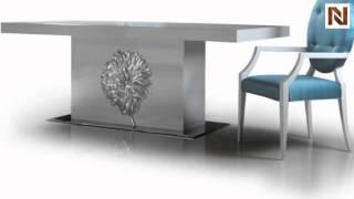 Emma - White Lacquer Modern Dining Table Vgdvls202 From Vig Furniture