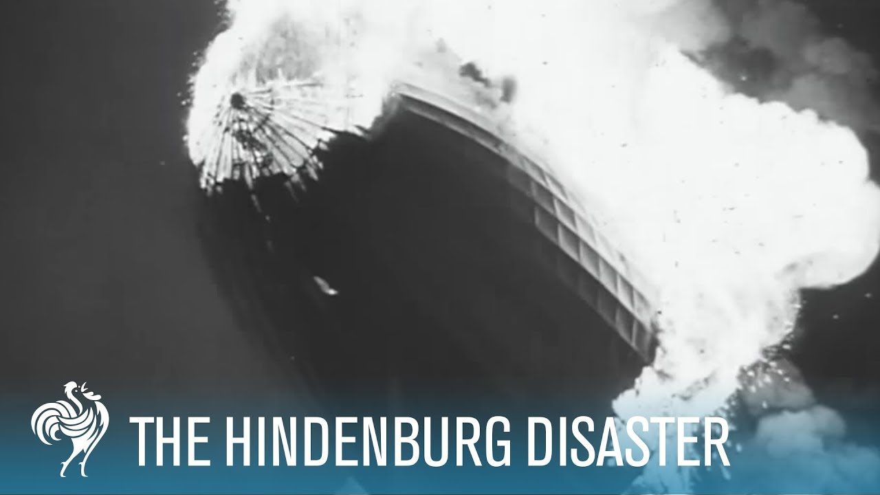 Download Hindenburg Disaster: Real Zeppelin Explosion Footage (1937)   British Pathé