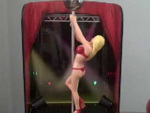 Teens stripper pole alarm clock novelty