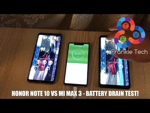 Honor Note 10 vs Xiaomi Mi Max 3  Battery Drain Test!
