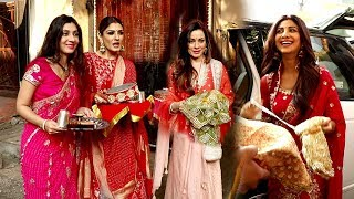 Bollywood Celebrity's Arriving At KARWA CHAUTH 2019 Celebrations-Raveena Tandon,Shilpa,Neelam Others