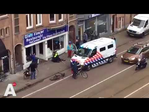 Palestinian Yelling 'Allahu Akbar' Smashes Jewish Restaurant's Windows in Amsterdam
