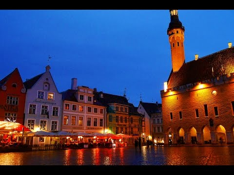 A day in Tallinn, Estonia. Beautiful city. HD