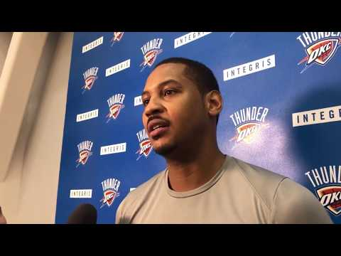 Carmelo Anthony says Thunder players are angry | ESPN
