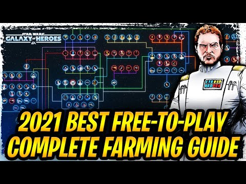 2021 STAR WARS: GALAXY OF HEROES FARMING GUIDE - Unlock ALL Legendary Characters for Beginners + F2P