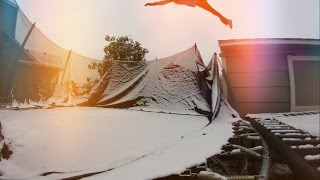 FLIPPING INTO THE SNOW!