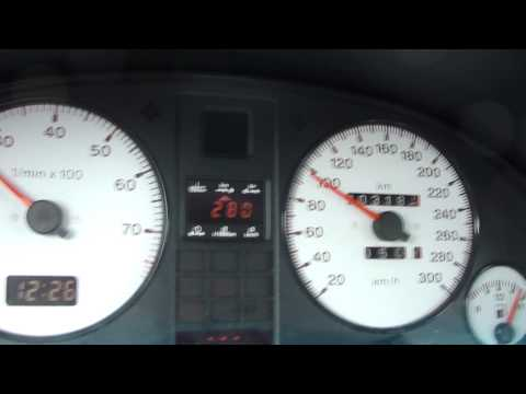 Audi RS2 on the motorway 300 km/h