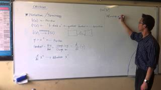 Calculus Notation & Terminology