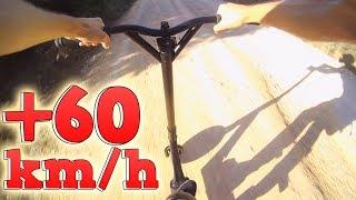 ¡ME TIRO DE UN MONTE CON UN DIRT SCOOTER A +60KM/H!