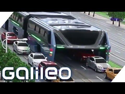 Fake oder Fakt: Der Anti-Stau-Bus in China | Galileo | ProSieben