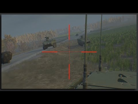 US Army Stryker Column Destroys Russian Armor- Squad Gamepla