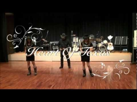 Country line dance  - Eight Second Ride -  Heart of Texas