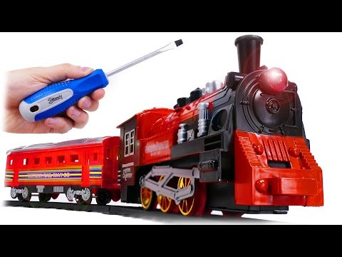 Thumbnail: TRAINS FOR CHILDREN VIDEO Dismantle of Classic Train Toy, Review Railway for Kids