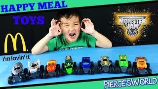 2015 Monster Jam Trucks McDonald's Happy Meal Toys - Toy videos for kids