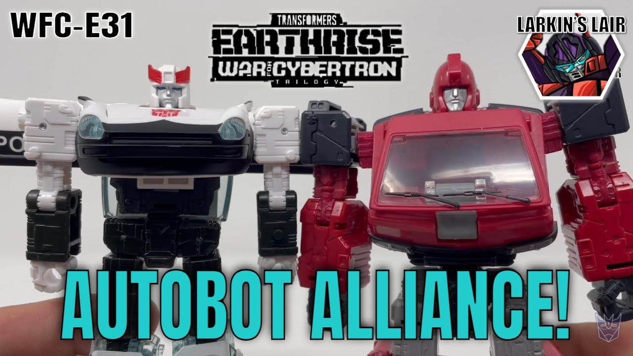 Transformers Earthrise Prowl & Ironhide WFC-E31 Autobot Alliance 2-Pack Review by Larkin's Lair