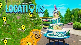 """""""Dance in front of different Birthday Cakes"""" Challenge (ALL BIRTHDAY CAKE LOCATIONS)"""