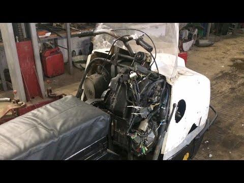 Буран с двигателем Honda hornet CB 600 на зимних покатушках.