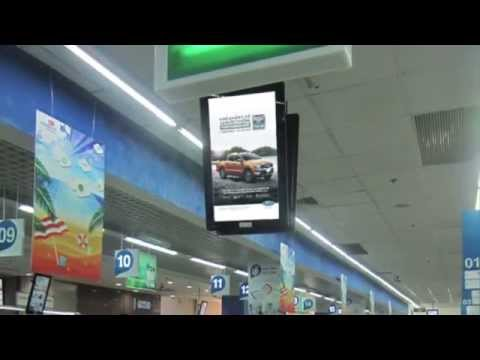 Multi Screen Network campaign - Showroom on Finger by Ford Vietnam