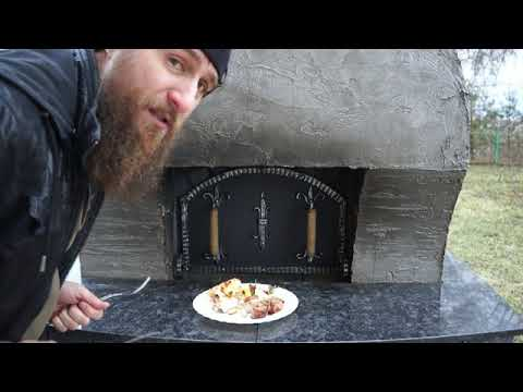Готовим в русской печи. Шашлык, хачапури, холодец.