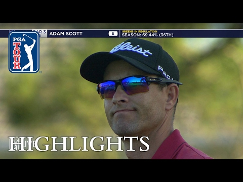 Adam Scott Round 1 highlights from Wells Fargo