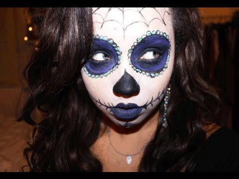 Day of the dead Halloween tutorial - YouTube
