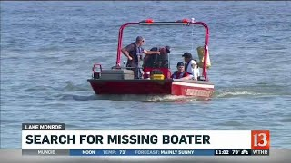 Search for missing boater resumes Sunday