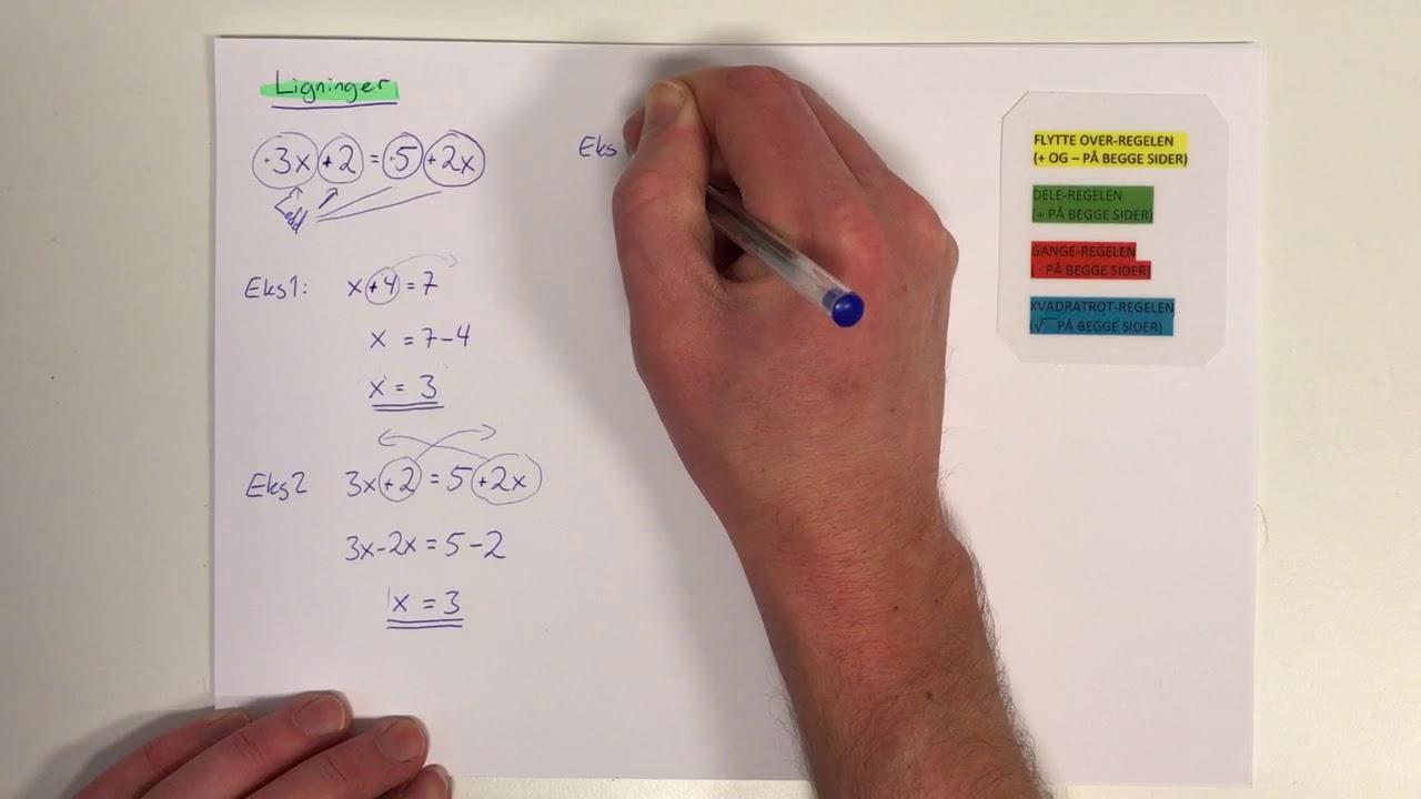 Ligninger 8. Klasse