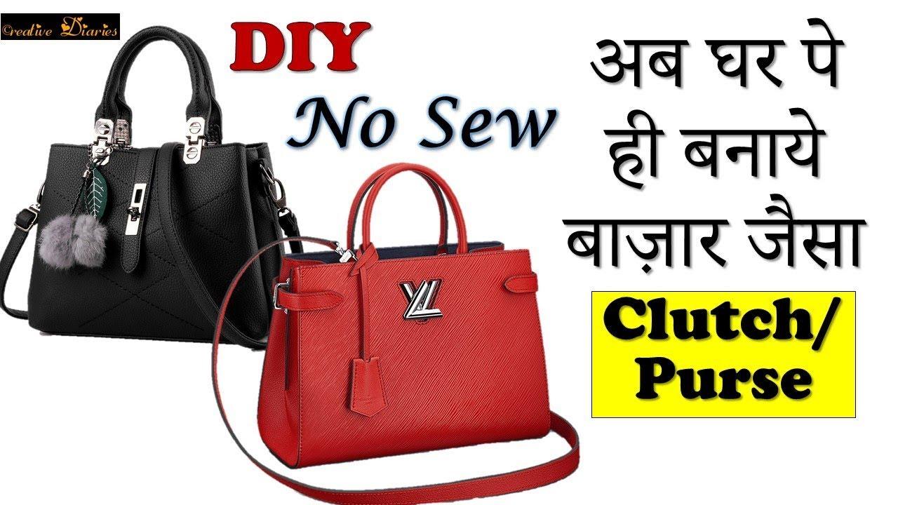 Diy No Sew Clutch Purse Handbag Tutorial I Easy Creative Diaries
