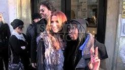 EXCLUSIVE - Poppy Montgomery and boyfriend Shawn Sanford at Europe 1 radio station in Paris