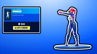 FORTNITE NOUVEAU SPRINKLER EMOTE! FORTNITE ITEM SHOP COUNTDOWN! MISE À JOUR QUOTIDIENNE DE LA BOUTIQUE D'ARTICLES! V-BUCKS GIVEAWAY