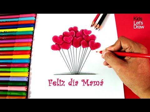 Cómo Dibujar Corazones Para El Día De La Madre How To Draw Hearts For Mothers Day