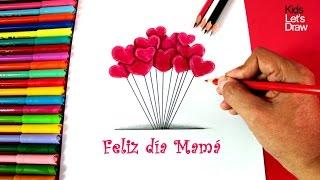 Cómo Dibujar Corazones para el Día De La Madre | How to draw hearts for Mother