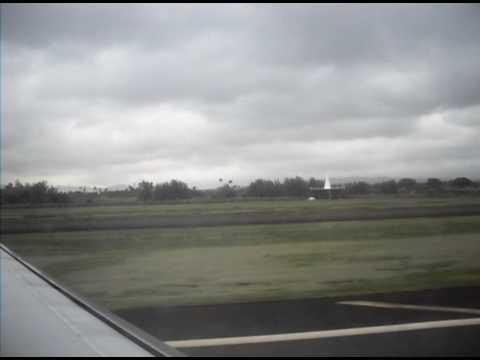 Landing in Lihue Hawaii onboard of Hawaiin Airlines flight from Honolulu to Lihue.AVI