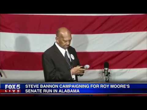 Steve Bannon at Roy Moore campaign