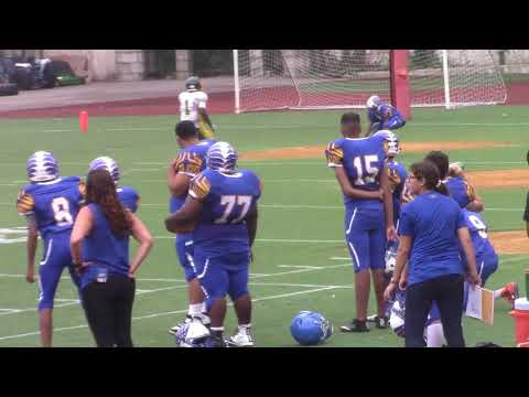 NYC PSAL Football 2017 Game 1 Alfred E Smith Warriors v William Cullen Bryant Owls