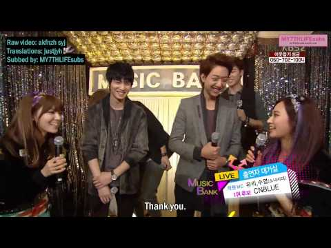 [ENG SUB] 130125 Sooyoung & Yuri & CNBLUE Music Bank Waiting Room Interview