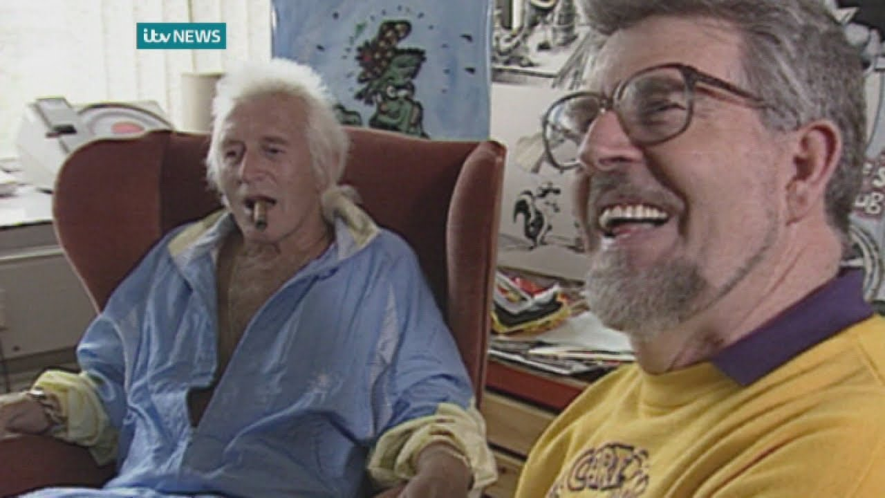 RAW FOOTAGE: Rolf Harris and Jimmy Savile joke about their friendship (1992)