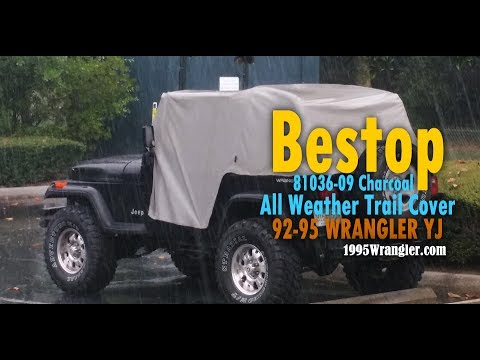 deff70343d8 Bestop 81036-09 Charcoal All Weather Trail Cover for 92-95 Wrangler ...