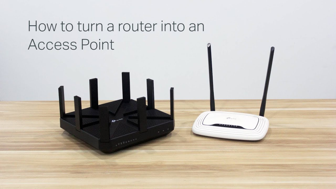 how to turn a router into an access point youtube