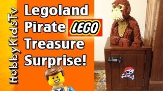 Legoland Pirate Treasure Chest Surprise Toys! Secret Code At Lego Hotel, Hobbykidstv™
