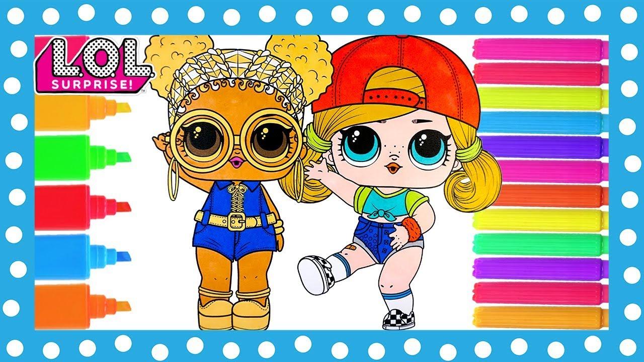 lol surprise dolls coloring book page sk8er grrrl and soul
