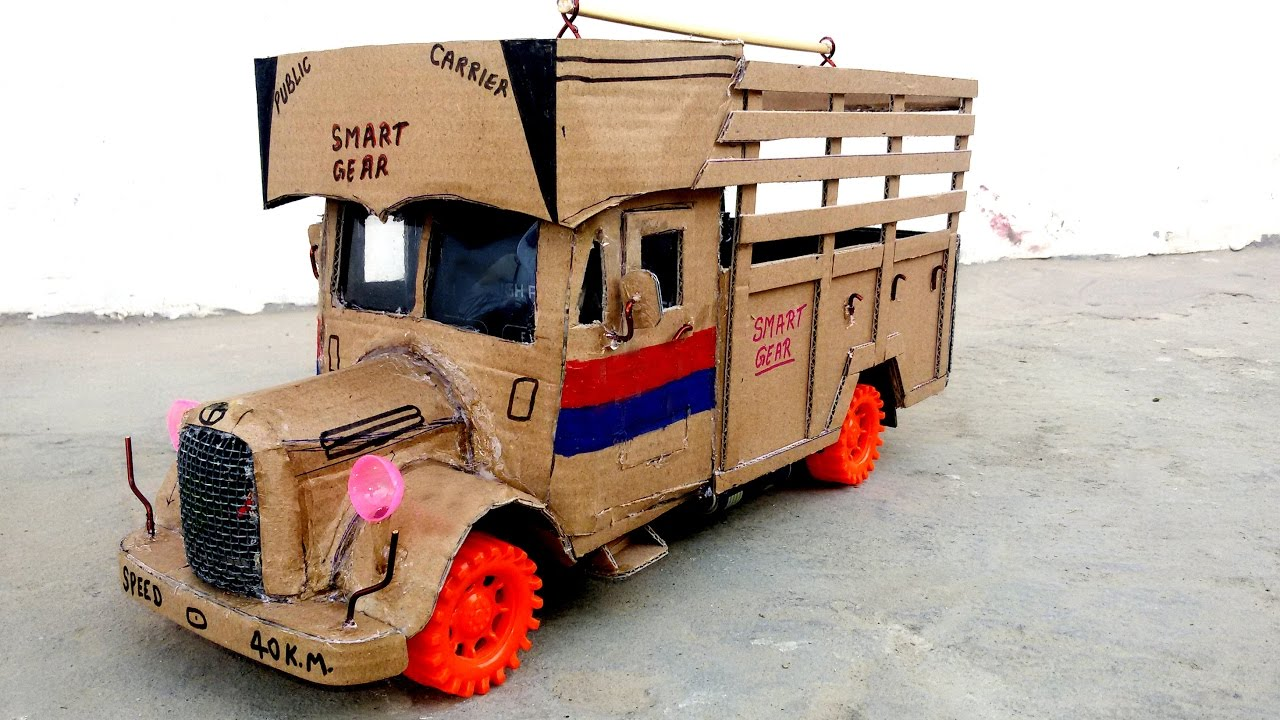 how to make a truck with cardboard at home classic truck how to make a old truck youtube. Black Bedroom Furniture Sets. Home Design Ideas
