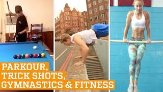 TOP FIVE: Parkour, Trick Shots & Bar Fitness | PEOPLE ARE AWESOME 2016