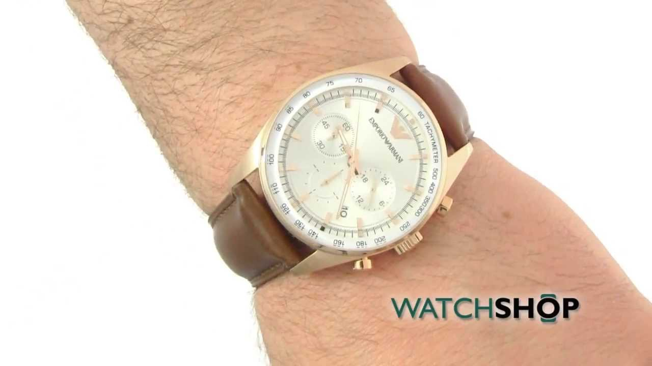 53f71c4b38f Emporio Armani Men s Tazio Chronograph Watch (AR5995) - YouTube