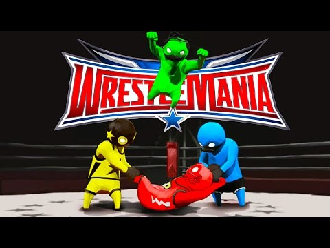 WRESTLEMANIA: GANG BEASTS EDITION!! Funniest Fighting Game Ever | Gang Beasts Funny Moments & FAILS