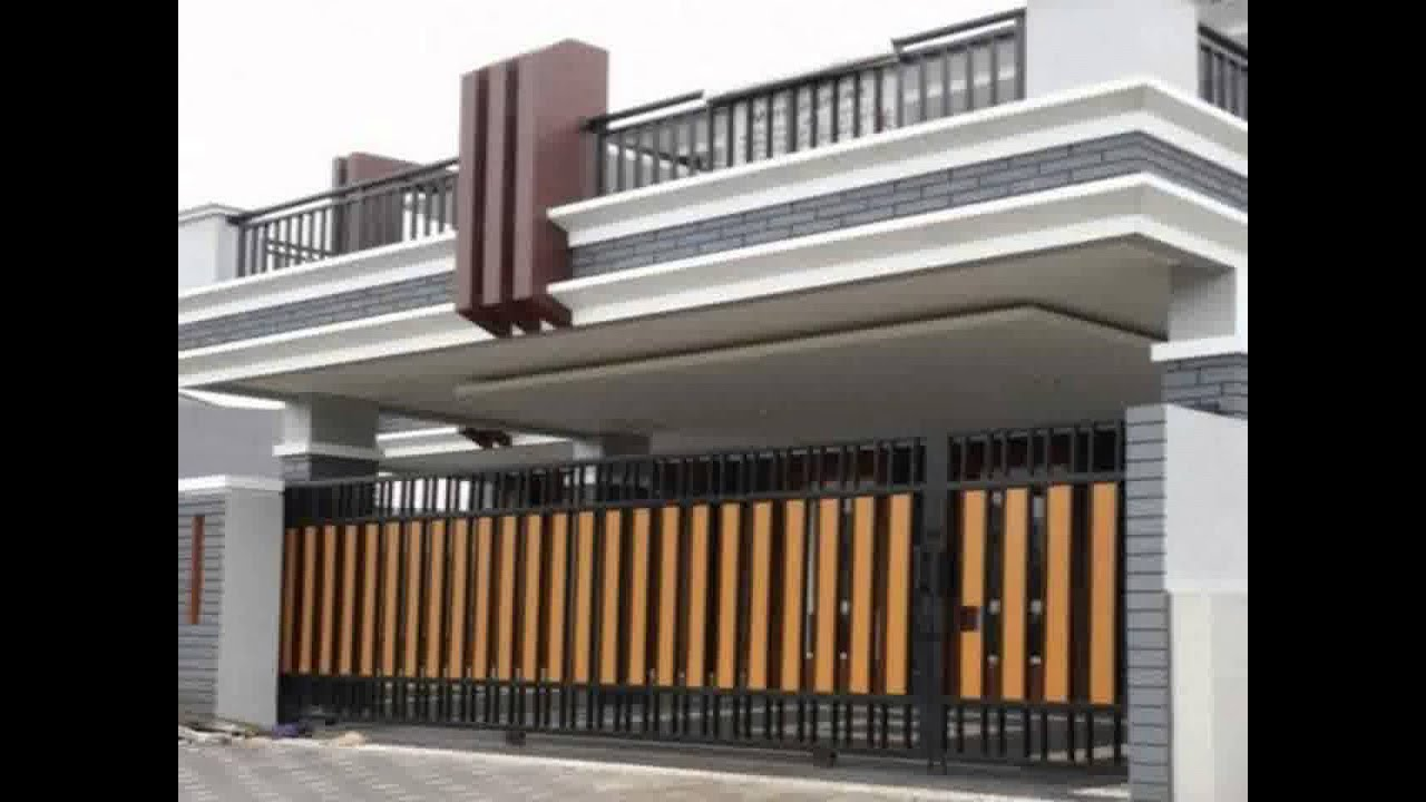 desain pintu gerbang rumah minimali paling diminati saat